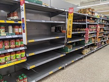 Coronavirus - Empty Shelves, Cancellations and Business Impact in Ealing