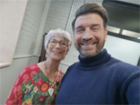 Vivien with Nick Knowles
