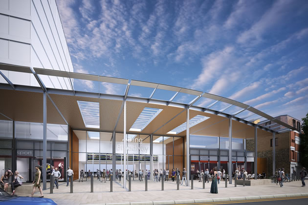 CGI of the station planned at Ealing Broadway