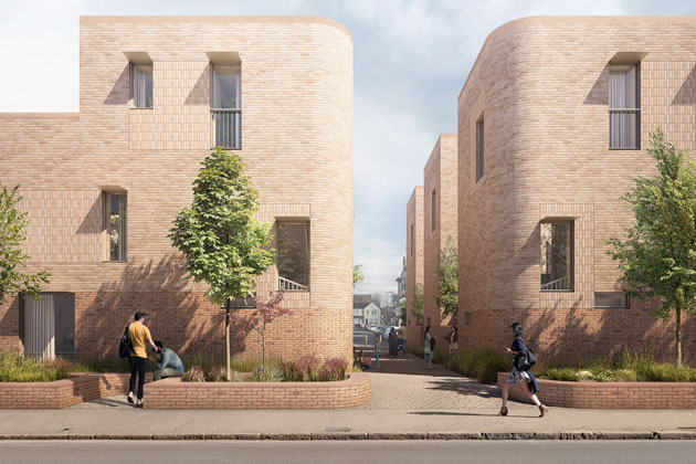 Visualisation of council scheme in Southall on Norwood Road